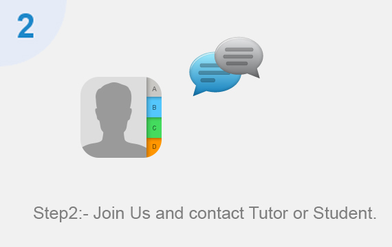 Join Us and contact Tutor or Student.